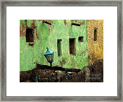 Tunnel Lamp Framed Print by Mexicolors Art Photography
