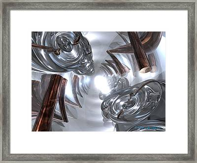 Tunnel Framed Print by Michael Burleigh