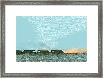 Framed Print featuring the digital art Tunnel Motors by Kerry Beverly