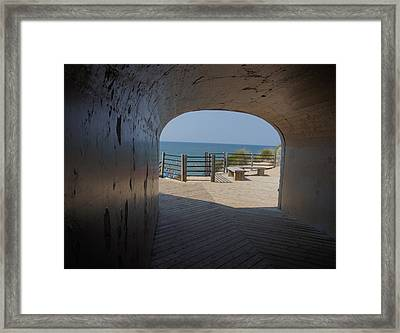 Tunnel Park Beach View Framed Print by Art Spectrum