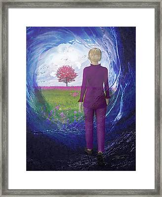 Tunnel To Eternal Life Framed Print