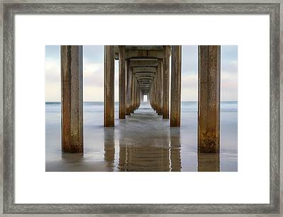 Tunnel To The Sea Framed Print