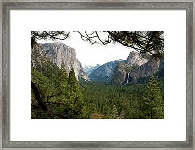 Tunnel View Framed Framed Print