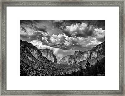 Tunnel View In Black And White Framed Print