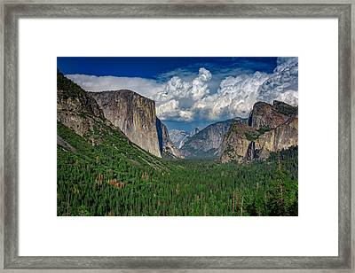 Tunnel View In Springtime Framed Print by Rick Berk