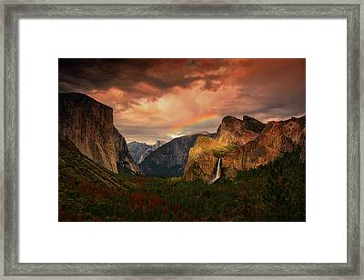 Tunnel View Rainbow Framed Print