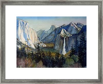 Tunnel View Yosemite Valley Framed Print by Howard Luke Lucas