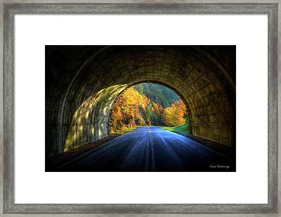 Tunnel Vision Blue Ridge Parkway Art Framed Print by Reid Callaway