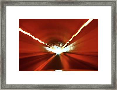 Framed Print featuring the photograph Tunnel Vision by Gray  Artus
