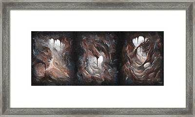 Tunnel Vision - Triptych Framed Print by Joe Burgess