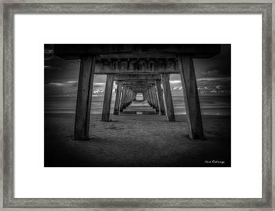 Tunnel Vision Tybee Island Pier Tybee Island Georgia  Framed Print by Reid Callaway
