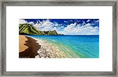 Tunnels Beach Framed Print