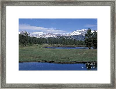 Framed Print featuring the photograph Tuolomne Meadows In June by Stan and Anne Foster
