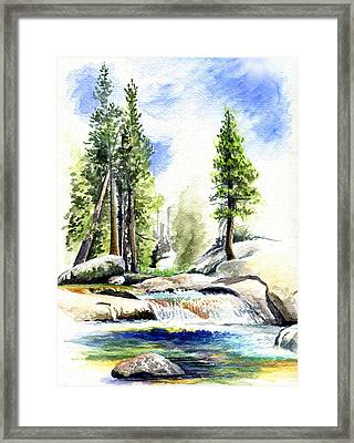 Tuolumne River On An August Afternoon Framed Print by Logan Parsons