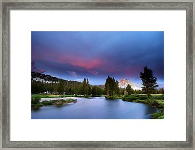 Tuolumne Twilight Framed Print by Eric Foltz