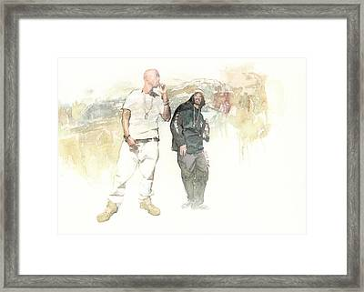 Tupac And Snoop Framed Print by Jani Heinonen