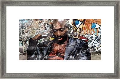 Tupac Graffitti 1 Framed Print