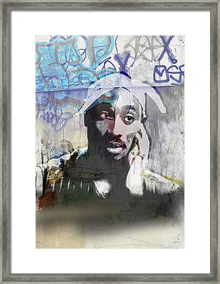 Tupac Graffitti 1386 Framed Print