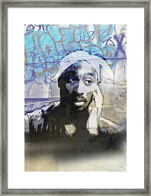 Tupac Graffitti 21 Framed Print