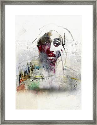 Tupac Graffitti 2656 Framed Print