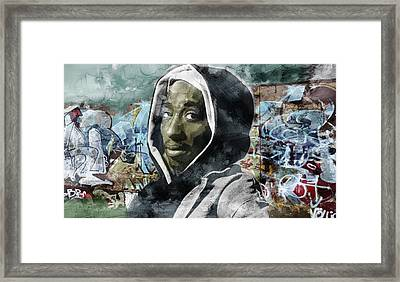 Tupac Graffitti 7 Framed Print