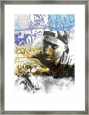 Tupac Graffitti 78 Framed Print