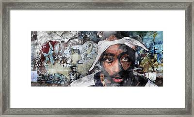 Tupac Graffitti 8 Framed Print