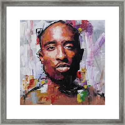 Tupac Framed Print by Richard Day