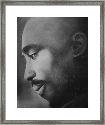 Tupac Rose Framed Print by Adrian Pickett