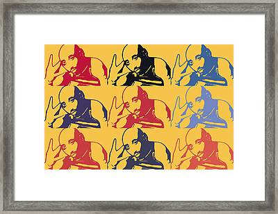 Tupac Shakur Graffiti In Andy Warhol Style Framed Print by Tommytechno Sweden