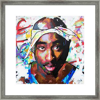 Framed Print featuring the painting Tupac Shakur II by Richard Day