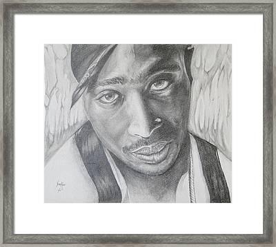Tupac Shakur II Framed Print by Stephen Sookoo
