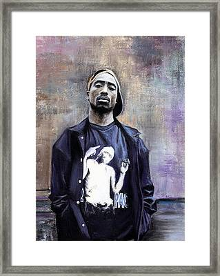 Tupac Shakur Framed Print by Raymond L Warfield jr