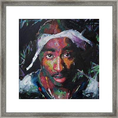Framed Print featuring the painting Tupac Shakur by Richard Day