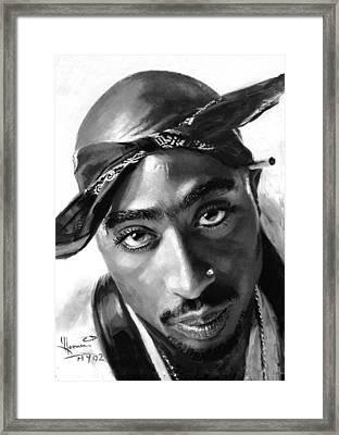 Tupac Shakur Framed Print by Ylli Haruni