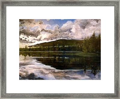 Tupper Lake Evening Mood Framed Print by David Llanos