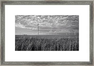 Turbines And Soybeans Framed Print by Mountain Dreams