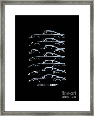 Turbo Sports Car Silhouettehistory Framed Print