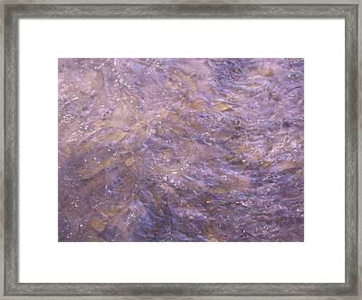 Turbulence Framed Print by Bonnie Lee
