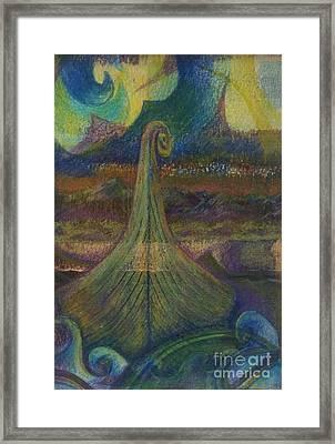 Turbulence Framed Print by Cynthia Lagoudakis