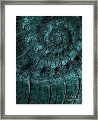 Turbulence In Blue Framed Print