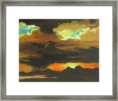 Turbulence Framed Print by Sandy Tracey