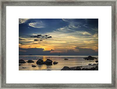 Turbulences Framed Print by Michelle Meenawong