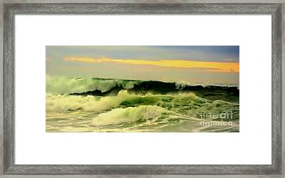 Turbulent Ocean Swell Framed Print by Blair Stuart