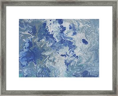 Turbulent Sky Framed Print by Linda McFaddin