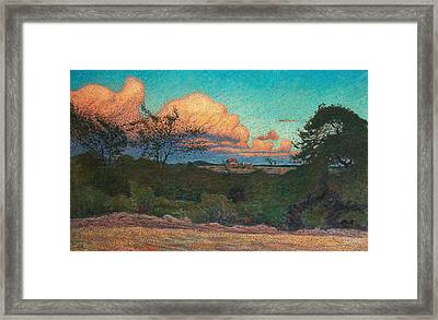 Turbulent Sky Framed Print by Nils Kreuger