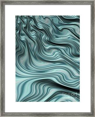 Turbulent Stream Framed Print