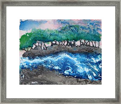 Turbulent Waters Framed Print