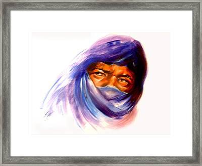 Tureg Man Framed Print by Patricia Rachidi