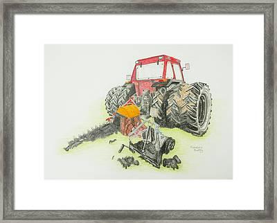 Turf Tractor Framed Print by Rosalind Batty